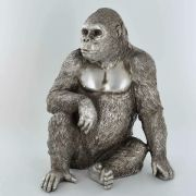 Antique Effect Gorilla Sculpture Statue Ornament Ape Decoration Gift